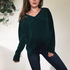 Emerald chenille sweater
